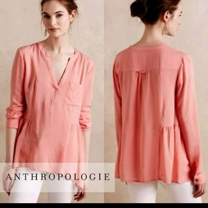 Gorgeous flowing peachy blouse